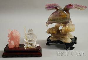 Three Chinese Hardstone Carvings