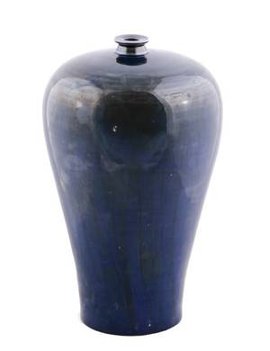 Chinese Deep Blue Glazed Meiping Vase