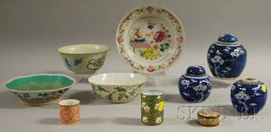 Ten Pieces of Chinese and Japanese Porcelain Tableware