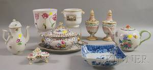 Ten Pieces of Modern Decorated Porcelain and Pottery