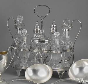 George III silver cruet set ca 1800