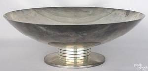 Tiffany  Co sterling Art Deco footed serving bowl