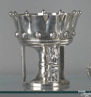 Philadelphia coin silver compote 19th c