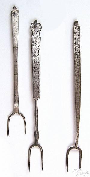 Pennsylvania wrought iron fork ca 1800