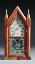 Rosewood Sharp Gothic Shelf Clock by Brewster  Ingrahams