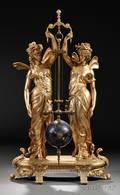 French Gilt Twofigure Mystery Clock