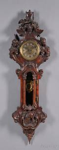Carved Rococo Revival Wall Clock