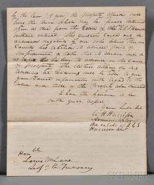 Harrison William Henry 17731841 Autograph Letter Signed 19 November 1832