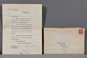 Wilson Woodrow 18561924 Typed Letter Signed 5 July 1915