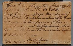 Washington George 17321799 Signed Invitation c 1783