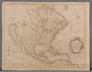 North America Robert Seale fl circa 1745 A Map of North America with the European Settlements  Whatever else is Remarkable in ye W