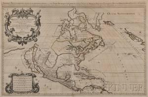North America Nicolas Sanson dAbbeville 16001667 LAmerique Septentriolae Divisee en ses Prinipales Parties