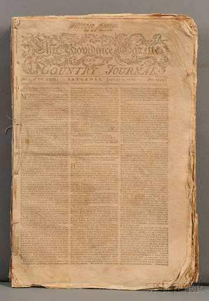 Newspapers Providence Gazette and Country Journal