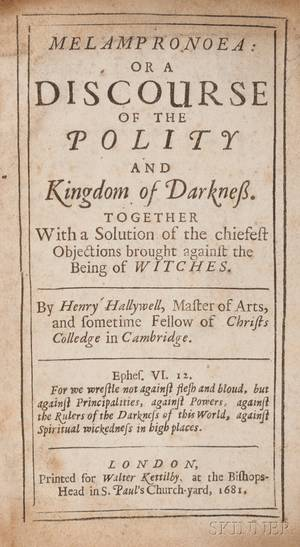 Hallywell Henry d 1703 Melampronoea or a Discourse of the Polity and Kingdom of Darkness Together with a Solution for the Chiefe
