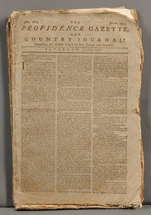 Newspapers Revolutionary War The Providence Gazette and Country Journal