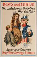 World War I Recruiting Poster Boys and Girls You Can Help your Uncle Sam Win the War