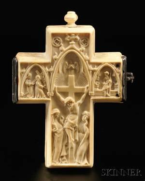 Ivory Crucifixform Watch