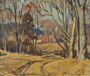 William Lester Stevens American 18881969 Road to the Farm in Autumn