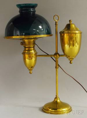 Brass Adjustable Student Table Lamp