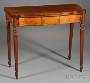 Federalstyle Inlaid Mahogany Card Table