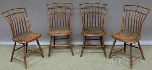 Set of Four Windsor Birdcage Side Chairs
