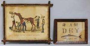 Two Currier  Ives Framed Lithographs