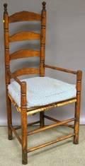Maple and Ash Slatback Armchair