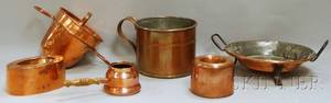 Six Assorted Copperware Items