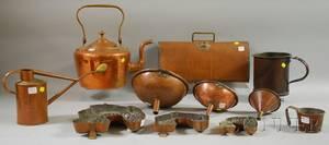 Eleven Assorted Copper Domestic Items