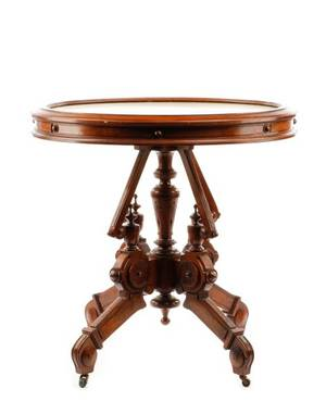 American Renaissance Revival Parlor Table 1870s