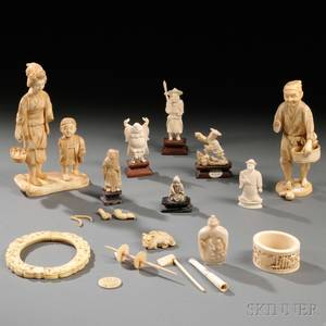 Group of Small Ivory Carvings