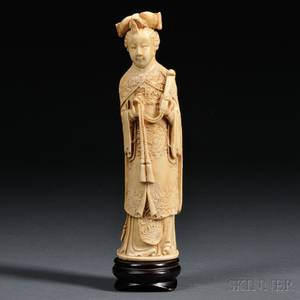 Faux Ivory Carving of a Woman