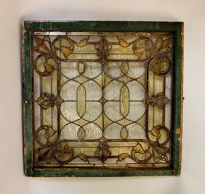 Late 19th C Leaded  Stained Glass Window
