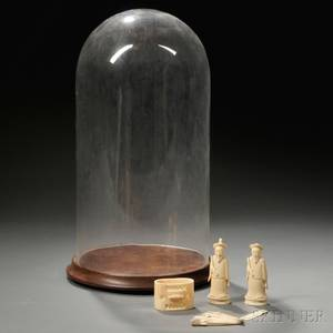 Five Ivory Items and a Glass Dome