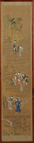 Painting Depicting Eight Daoist Figures