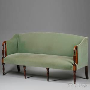 Federalstyle Mahogany Inlaid Sofa