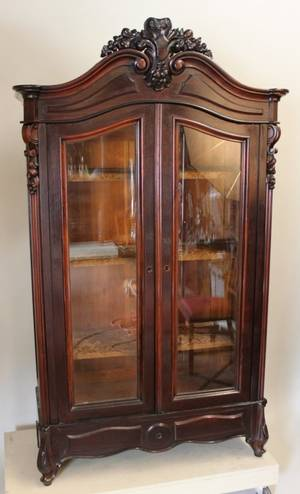 Late 19th C Victorian Rosewood Bookcase
