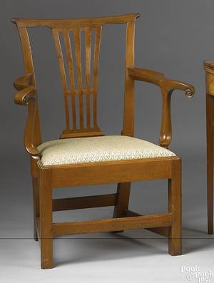 Virginia Chippendale mahogany armchair ca 1790
