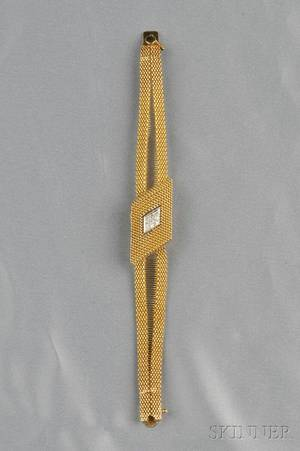 14kt Gold and Diamond Covered Wristwatch Cordova