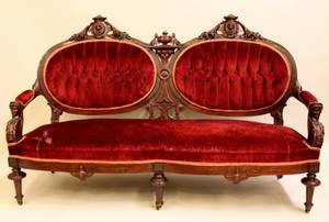 Late 19th C Walnut Framed Victorian Sofa