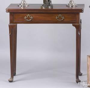 Irish Queen Anne mahogany card table ca 1740