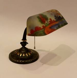 E 20th C Brass Student Lamp