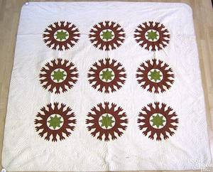 Pennsylvania pieced quilt late 19th c