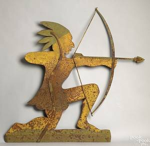 American sheet iron Indian weathervane late 19th c