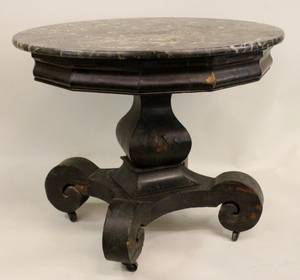 Round Parlor Table Attributed to Joseph Meeks