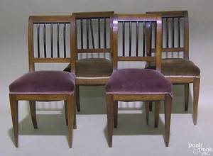 Set of 4 Biedermeier mahogany dining chairs ca 1830
