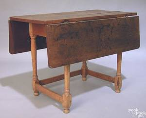 New England cherry and tiger maple tavern table ca 1770