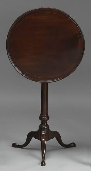 Philadelphia Queen Anne mahogany candlestand ca 1785