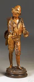 Carved figure of a boy ca 1830