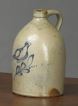 Twogallon stoneware jug 19th c